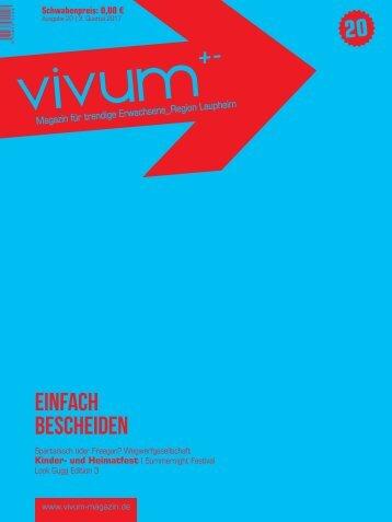 Vivum 20 | EINFACH BESCHEIDEN