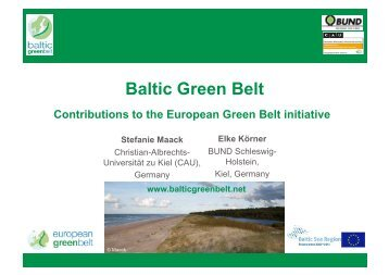 Main pillars European Green Belt Baltic Sea Region