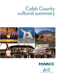 Cobb County cultural summary - the Atlanta Regional Commission