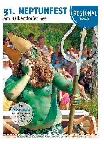 Regional Spezial! 31. Neptunfest am Halbendorfer See | 14. bis 16. Juli 2017