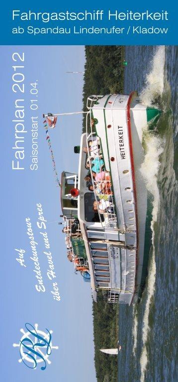 City-Schleusen-Fahrt - Reederei Lüdicke