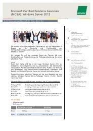 Microsoft Certified Solutions Associate (MCSA): Windows ... - Bechtle