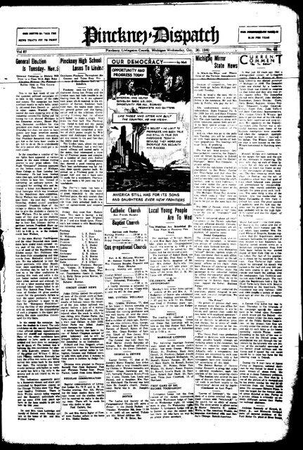 10-30-1940 - Village of Pinckney