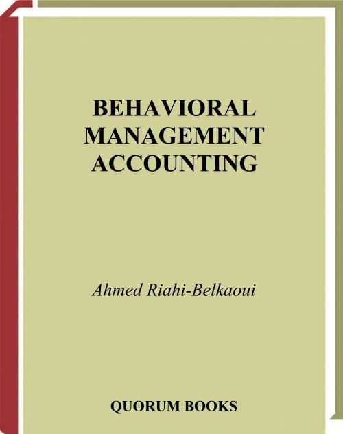 Accounting theory riahi pdf ahmed belkaoui