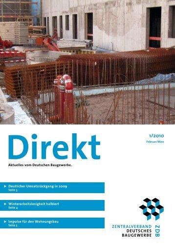 ZDB Direkt 1-2010.pdf - Zentralverband Deutsches Baugewerbe