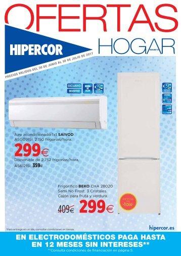 Folleto Hipercor Rebajas hogar hasta 30 de Julio 2017