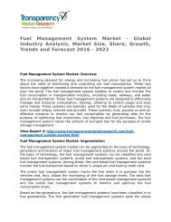 Fuel Management System Market 2016 Trends, Research, Analysis and Review Forecast 2023