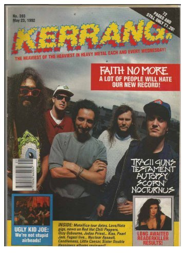 kerrang no 393 may 23 1992