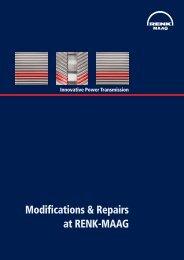 Modifications & Repairs at RENK-MAAG - RENK-MAAG GmbH