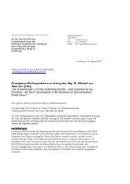 Stellungnahme - Greenpeace Blog
