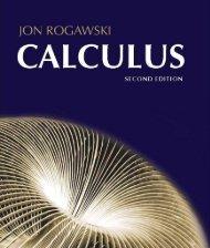 Calculus 2nd Edition Rogawski
