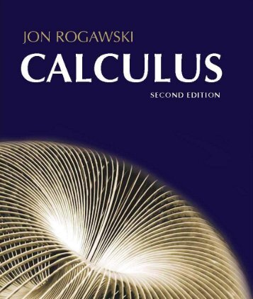 Calculus 2nd Edition Rogawski