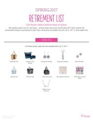 Spring Summer 2017 Thirty-One Retirement List