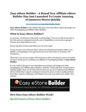 Easy eStore Builder review and $26,900 bonus - AWESOME!