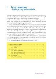 1 Tal og talsystemer – kulturarv og kulturteknik - Matematik for lærere