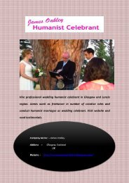 Hire Wedding Humanist Celebrant in Glasgow