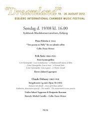 Dreamland - Esbjerg International Chamber Music Festival