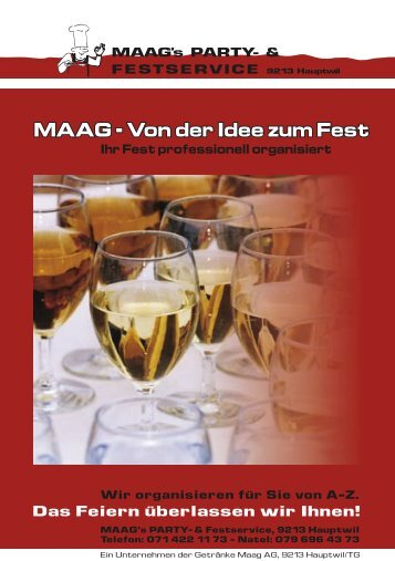 MAAG - bei Maag Partyservice, Hauptwil