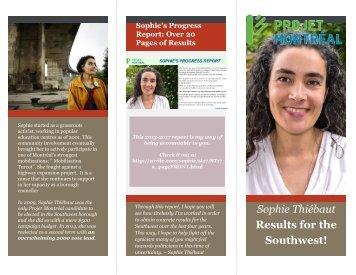 Sophie Thiébaut: Results for the Southwest