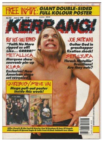 Kerrang 292 June 2 1990