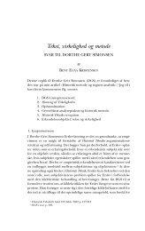 Tekst, virkelighed og metode - Historisk Tidsskrift