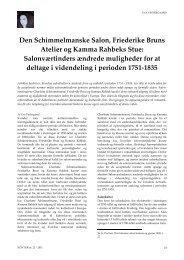 Den Schimmelmanske Salon, Friederike Bruns Atelier og Kamma ...