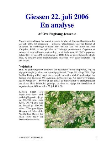 Giessen 22. juli 2006 En analyse
