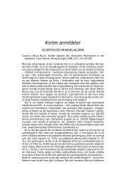 Kortere anmeldelser - Historisk Tidsskrift