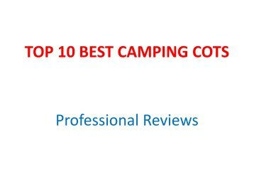 TOP 10 BEST CAMPING COTS