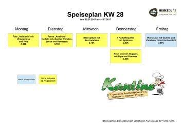 Speiseplan KW28