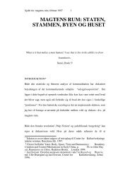 magtens rum: staten, stammen, byen og huset - Nina Rasmussen og ...