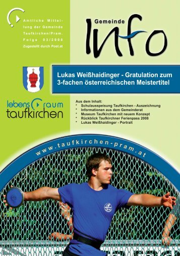Lukas Weißhaidinger - Taufkirchen an der Pram
