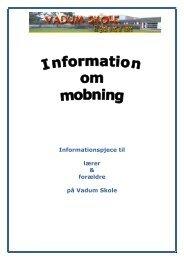 Information om mobning - Vadum Skole