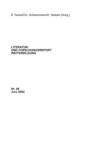 Kompetenzentwicklung statt Bildungsziele? - Deutsches Institut für ...