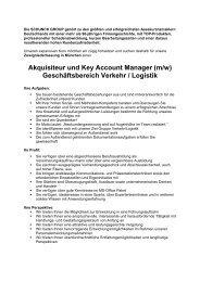Akquisiteur und Key Account Manager (m/w) - Schunck Group