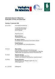 Informationsveranstaltung in Warschau 9 ... - Schunck Group
