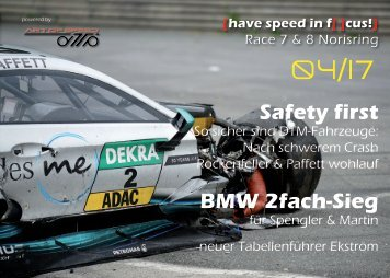 {have speed in f[ ]cus!} DTM Race 07 und 08 Norisring