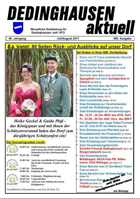 Dedinghausen aktuell 498