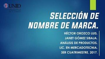AP - Selección de nombres de marcas - Hector Orozco