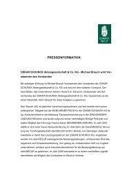 Neubesetzung des Vorstandsvorsitzenden - Schunck  Group