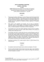 DUTCH FORWARDING CONDITIONS - Fenex
