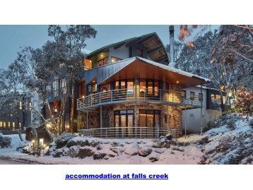 accommodation at falls creek