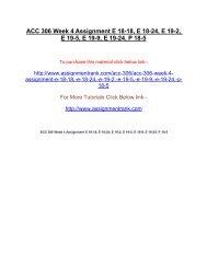 ACC 306 Week 4 Assignment E 18-18, E 18-24, E 19-2, E 19-5, E 19-9, E 19-24, P 18-5