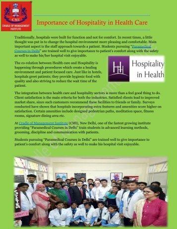 Paramedical Courses in Delhi - Cradle of Management Institute