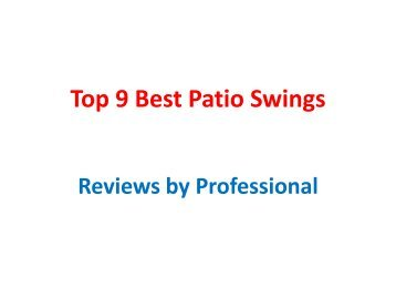 Top 9 Best Patio Swings