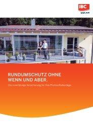 Rundum-Schutz ohne Wenn und Aber. Die zuverlässige Versicherung für Ihre Photovoltaikanlage.