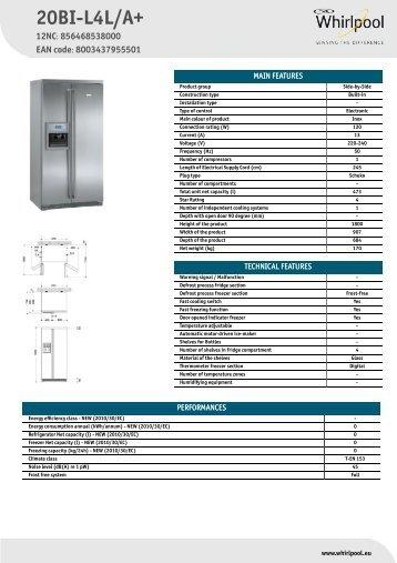 KitchenAid 20BI-L4L/A+ - 20BI-L4L/A+ EN (856468538000) Informations produit