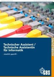 GBS Technikerschule Technischer Assistent / Technische Assistentin für Informatik