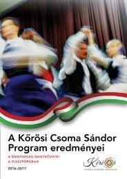 A Kőrösi Csoma Sándor Program Eredményei