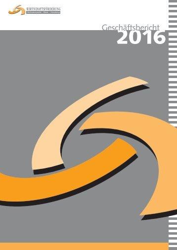 Geschäftsbericht Wirtschaftsförderung SBH 2016